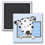 Framed Cartoon Dalmatian Magnet