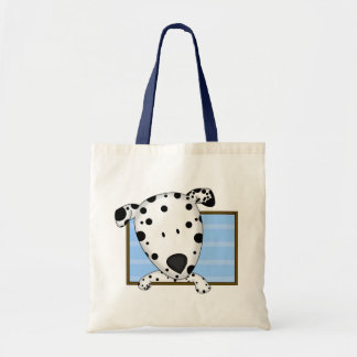Framed Cartoon Dalmatian Tote Bag