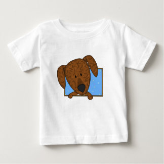 Framed Cartoon Plott Hound Baby's Baby T-Shirt
