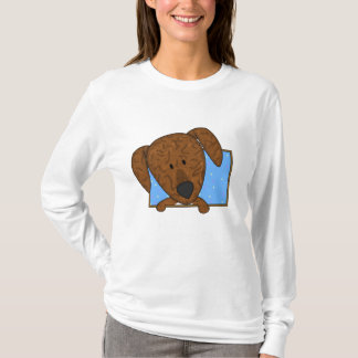 Framed Cartoon Plott Hound Ladies' T-Shirt