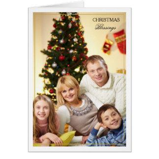 Framed Christmas Blessings Vertical Photo Card