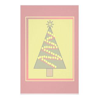 Framed Christmas tree illustration Custom Stationery