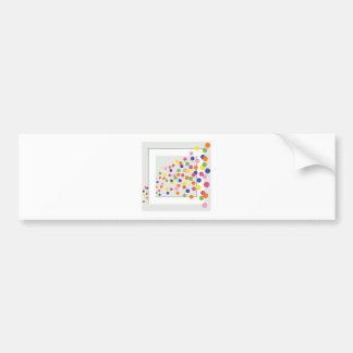 Framed Circles Bumper Sticker