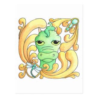 Framed Dragon Postcard