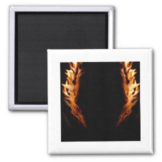 Framed Flames Square Magnet