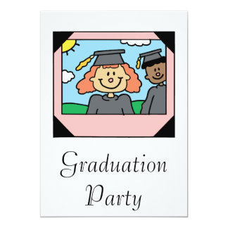 Framed Girl Grad Personalized Announcements