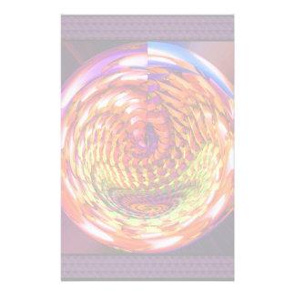 Framed glass spiral customized stationery