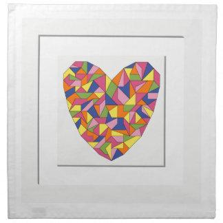 Framed Heart Napkin