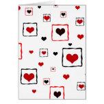 Framed hearts - Card