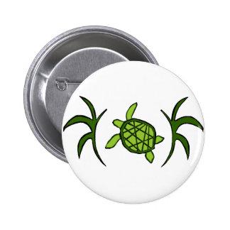 Framed Honu (sea turtle) button