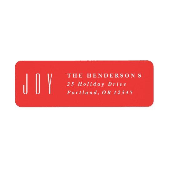 Framed Joy   Return address label
