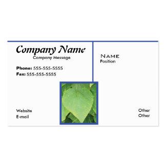 Framed Leaf Pack Of Standard Business Cards