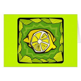 Framed Lemons Card