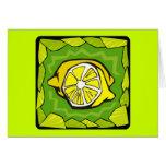 Framed Lemons Greeting Card