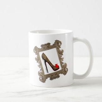 Framed Leopard Stiletto Pump Coffee Mug