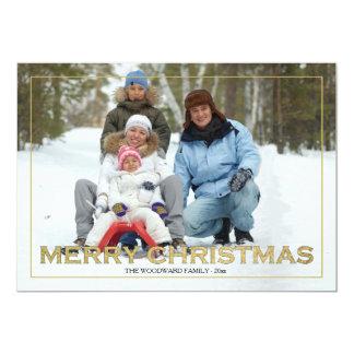 Framed Merry Christmas Photo Holiday Card 13 Cm X 18 Cm Invitation Card