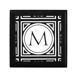 Framed Monogram Small Square Gift Box