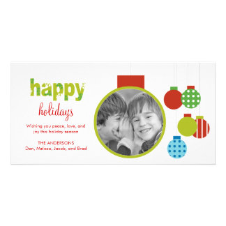 Framed Ornament Holiday/Christmas Photo Card
