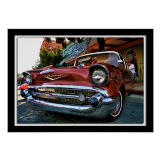 Framed Painterly Photo Old Chevy Poster