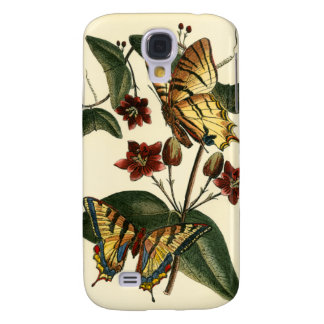 Framed Painting of Butterflies and Flowers Galaxy S4 Case