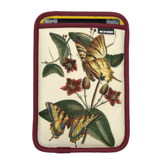 Framed Painting of Butterflies and Flowers iPad Mini Sleeve