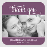 Framed Photo Wedding Favour Stickers