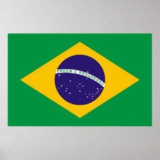 Framed print with Flag of Brazil
