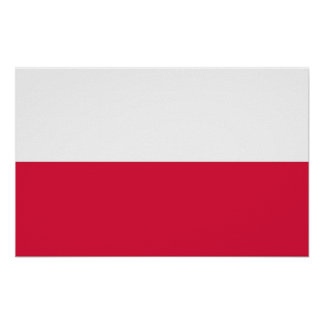 Framed print with Flag of Poland