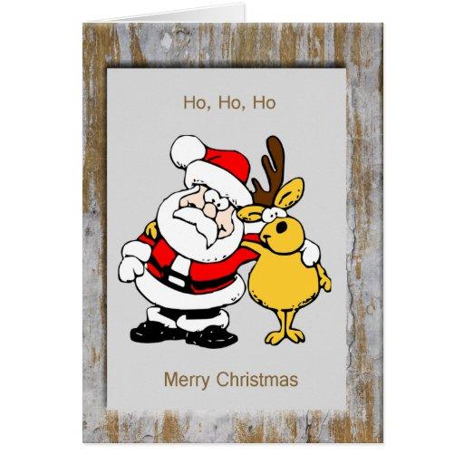 Framed Santa & Rudolph Cards