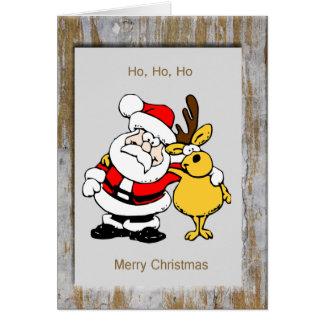 Framed Santa Rudolph Cards