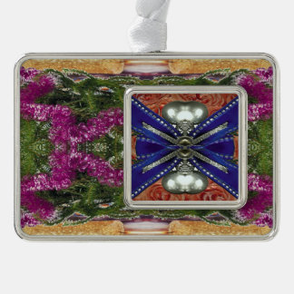 framed silver plated ornament