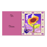 Framed Sunflower with Butterfly  Gift Tag Business Card Template