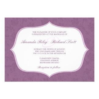 Framed Vintage Floral Wedding Invitation