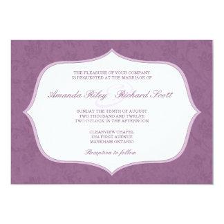 "Framed Vintage Floral Wedding Invitation 5"" X 7"" Invitation Card"