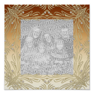 Frames For Your Photo Poster Image Coffee Gold