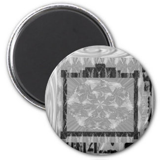 Frames of Black n White Art - Add text or image 6 Cm Round Magnet