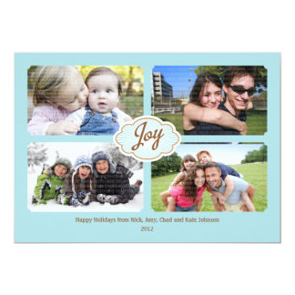 Frames of Joy Christmas Photo Card 13 Cm X 18 Cm Invitation Card