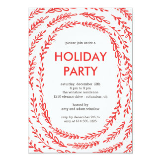 Framing Branches Modern Holiday Party Invitations