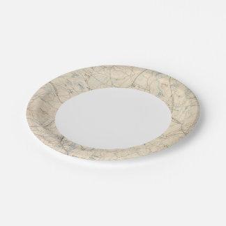 Framingham, Massachusetts 7 Inch Paper Plate