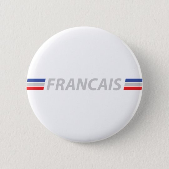 francais icon 6 cm round badge