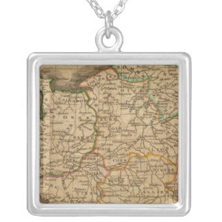 France 13 silver plated necklace