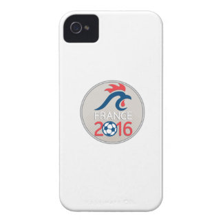 France 2016 Football  Europe Championships Circle Case-Mate iPhone 4 Cases