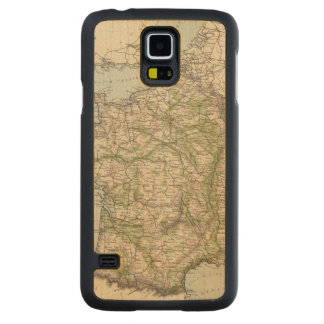 France 26 carved maple galaxy s5 case