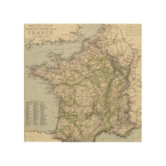 France 26 wood print