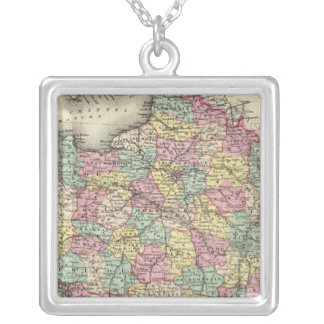 France 2 silver plated necklace