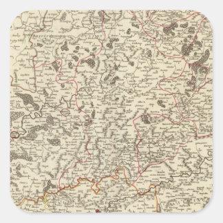 France 39 square sticker
