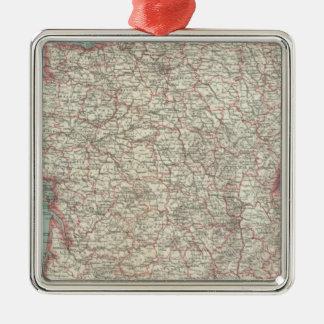 France 46 Silver-Colored square decoration