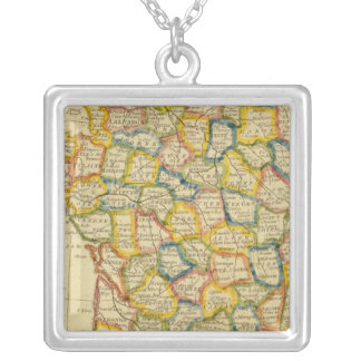 France 4 silver plated necklace