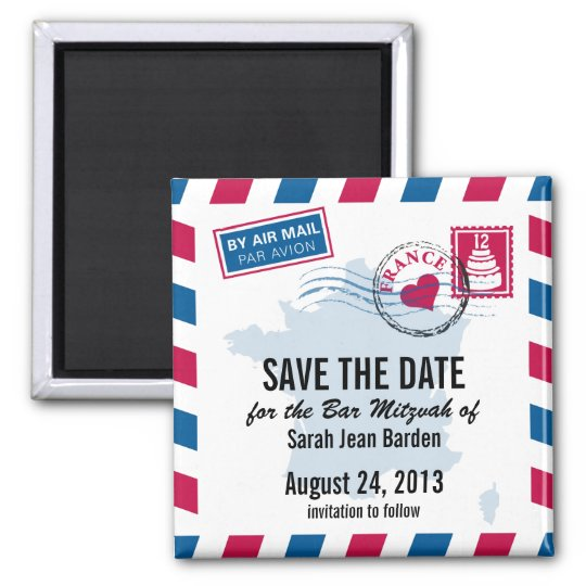 France Air Mail Bar Mitzvah Save the Date