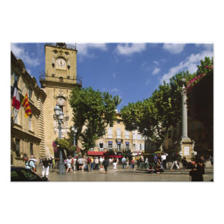 France, Aix en Provence, La Place de la Maire Photo Print
